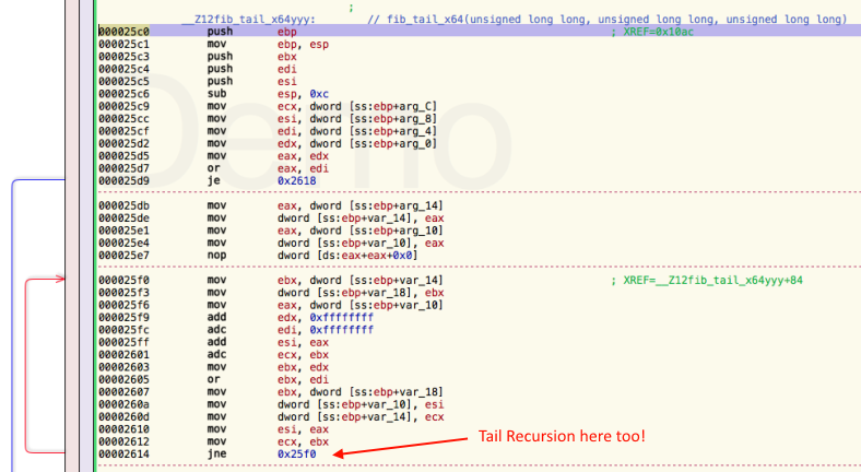 Tail Recursion enabled!